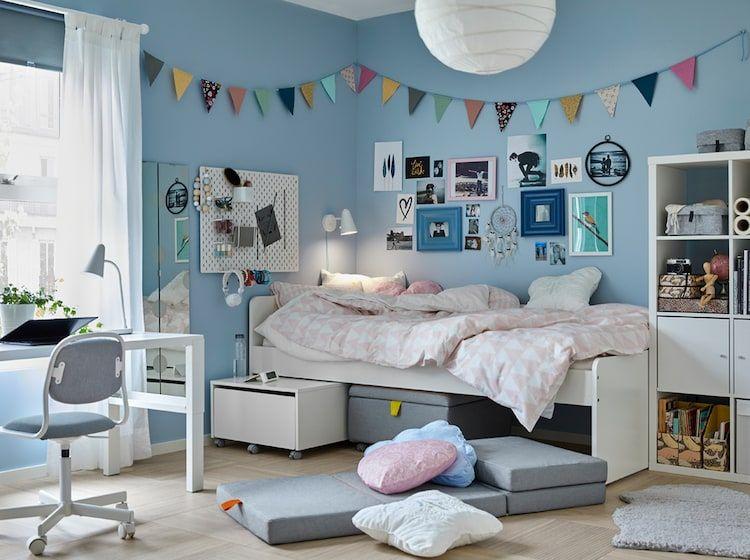 Zum Schlafen Lernen Und Einfach Mal Abhangen Jugendzimmer Kinder Zimmer Kinderbett Ikea