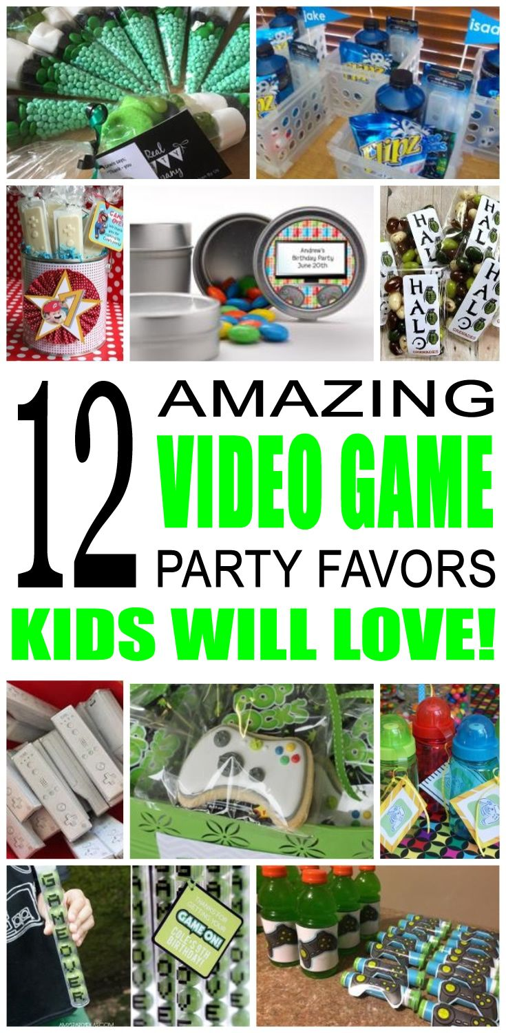 Video Game Party Favor Ideas Party favors for kids