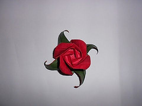 Photo of Origami Rose mit Blatt Tutorial