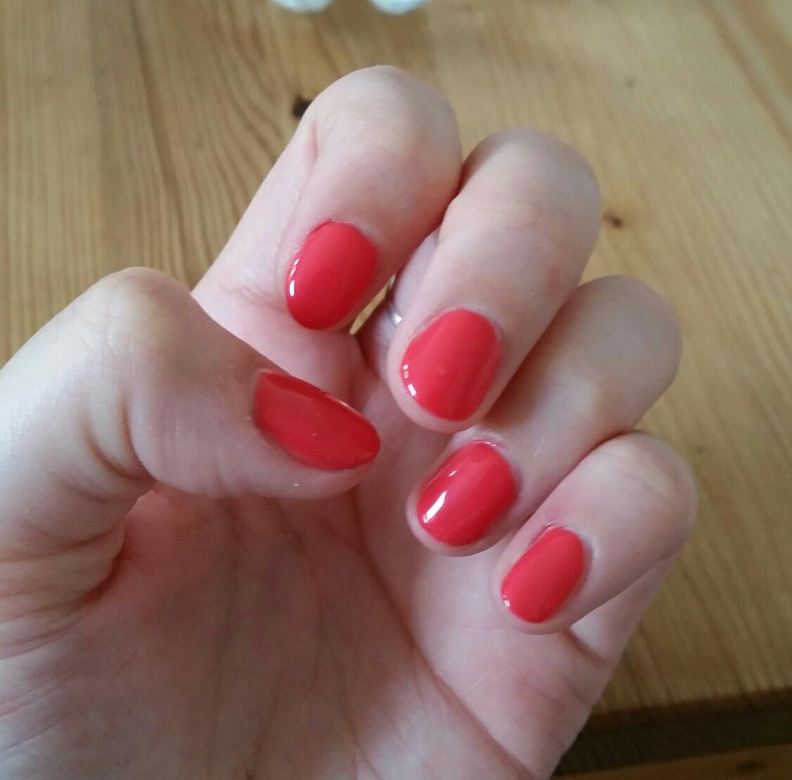 Elite99 Coral Red Pink Gel Nail Polish In 1331 With Images