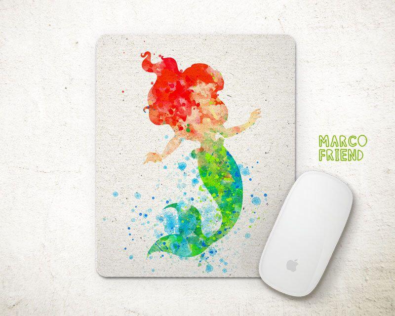 disney office decor. Disney, Princess, The Little Mermaid, Ariel, Watercolor Art, Prints, Poster, Girls Decor, Office Kids Birthday Gifts - P94 By MarcoFriend On Disney Decor