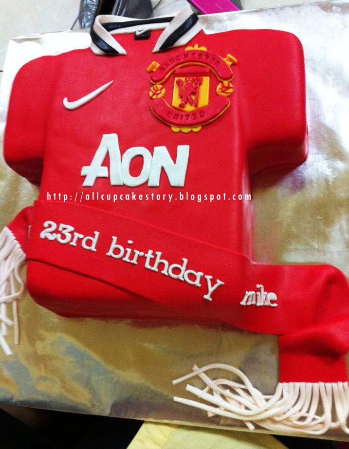 Manchester United Jersey Cake Manchester United Cake Manchester United Birthday Cake Birthday Cakes For Men