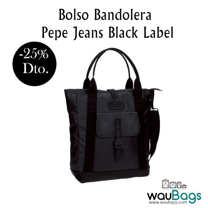 El Bolso Bandolera Black Un Pepe Tiene Label Jeans Compartimento nP0wOk