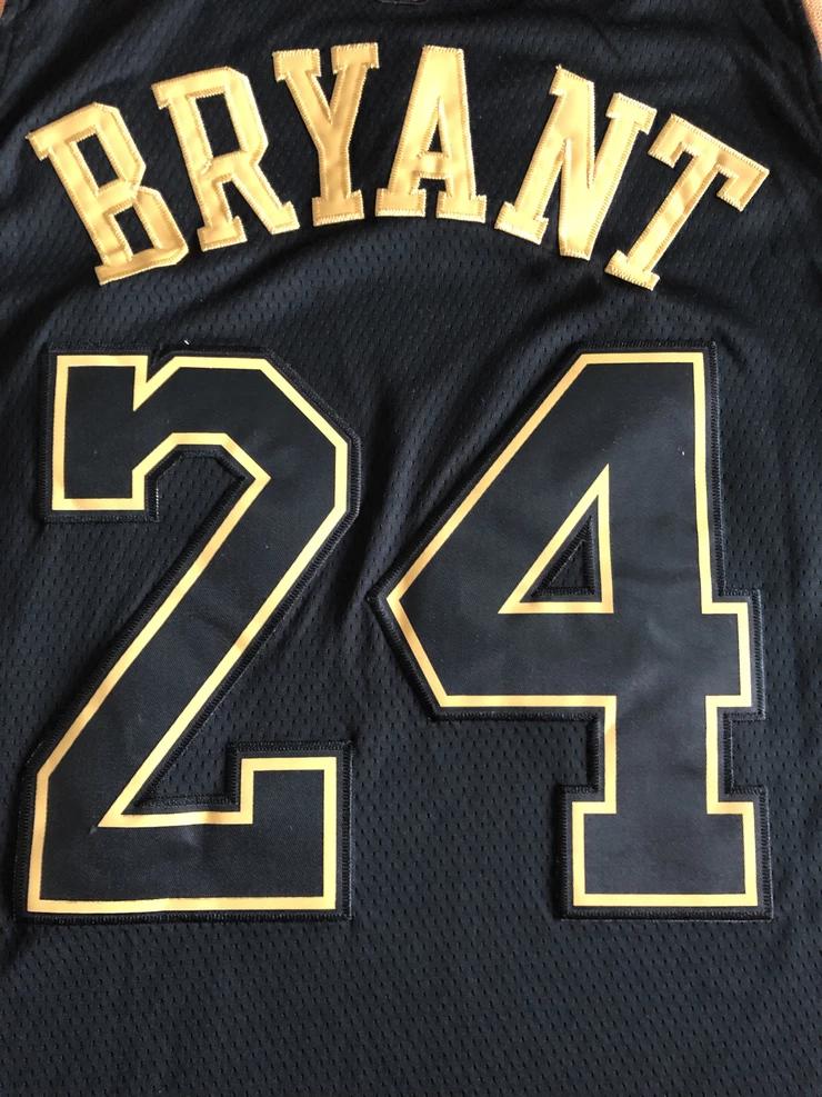 Men 24 Kobe Bryant Jersey Black Gold Los Angeles Lakers Swingman ...
