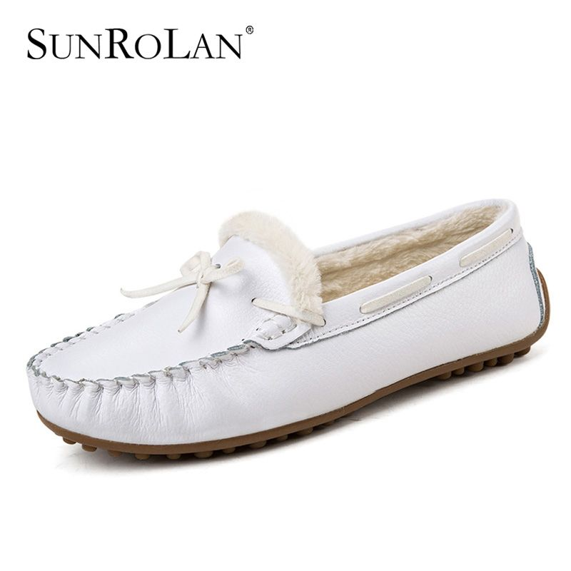 Uniity Flat Shoes For Women Comfortable Casual Flat Driving Slip On V Bow Shoes