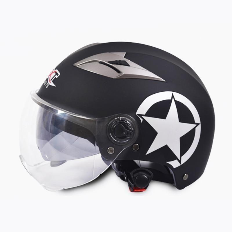 Open Face Capacete Moto Double Lens ABS Helmet