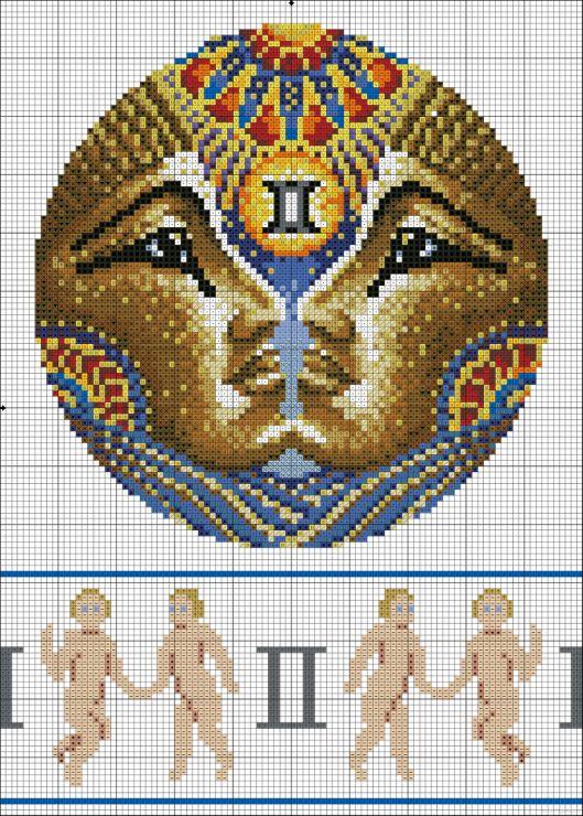Gallery.ru / Фото #5 - зодиак в круге (добавлены схемы с ...