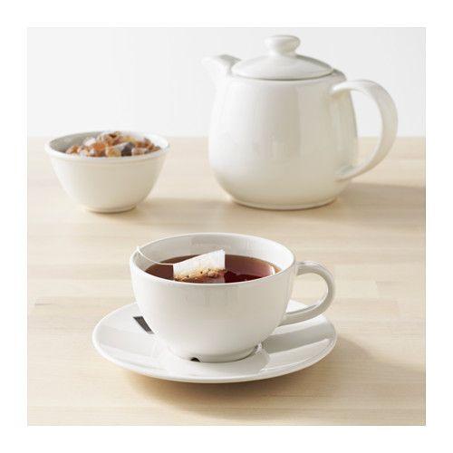 VARDAGEN Šálka a podšálka, krémová   Pinterest   Teacup, Kitchen ...