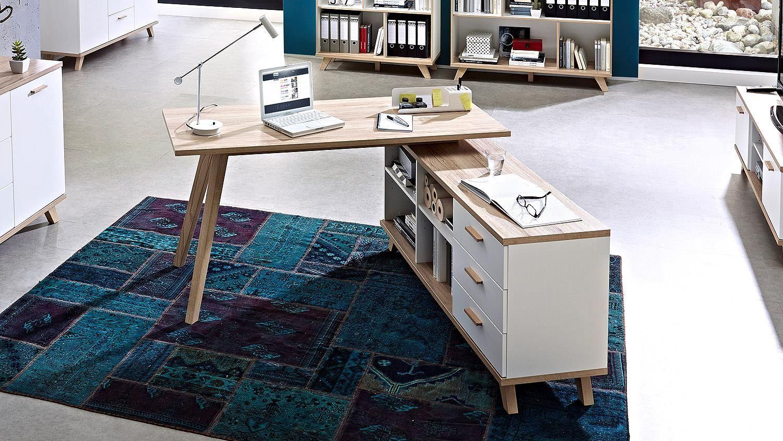 Sympathisch Schreibtisch Oslo Galerie Von Computertisch Kommode Sanremo Eiche Von Germania 144