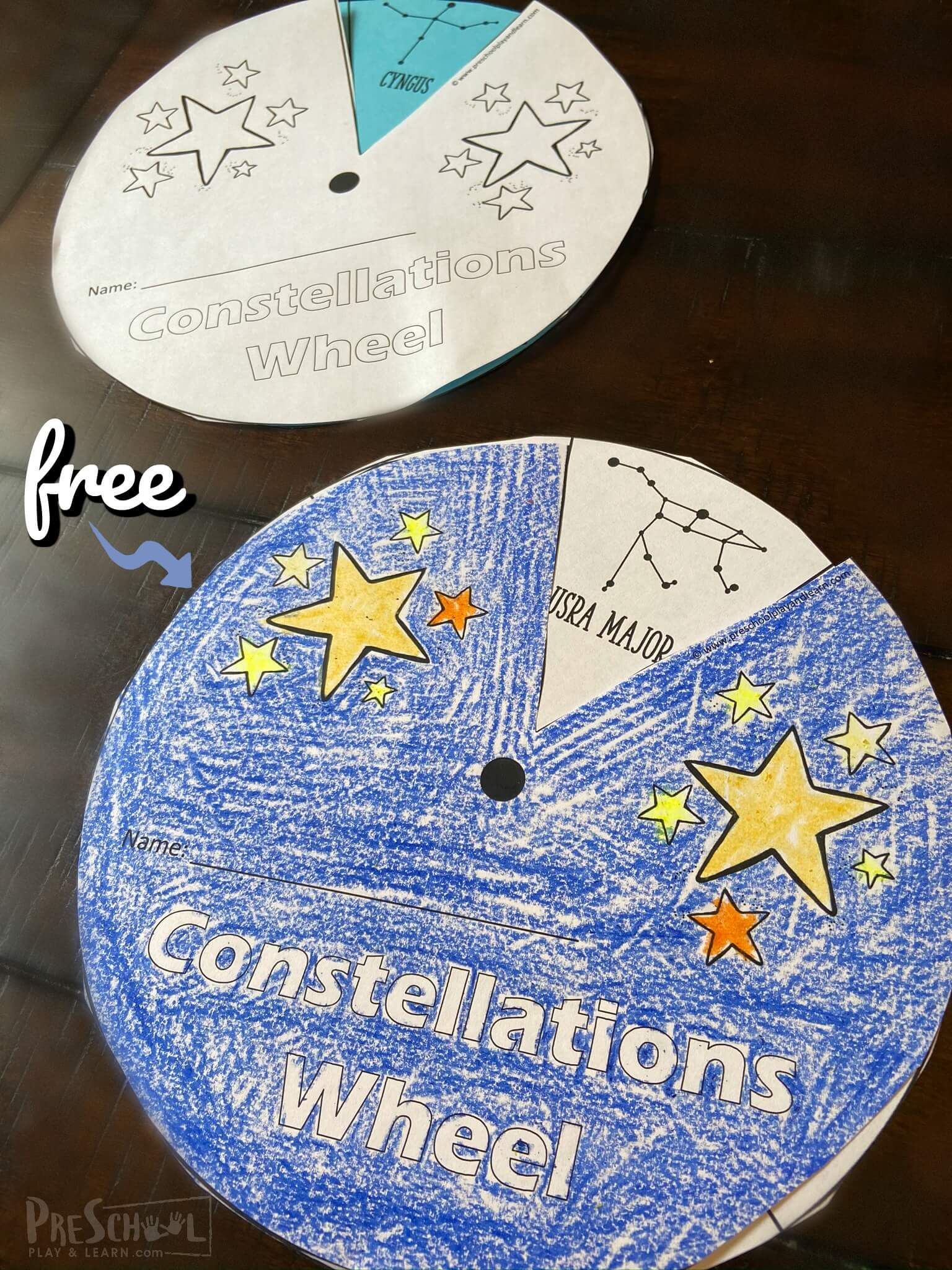 Free Constellations Printable Wheel In