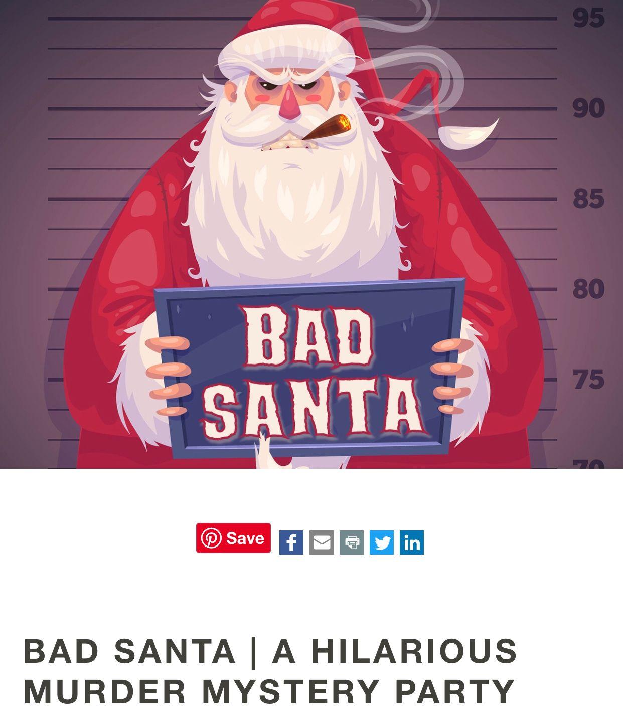 Pin On Bad Santa Murder Mystery