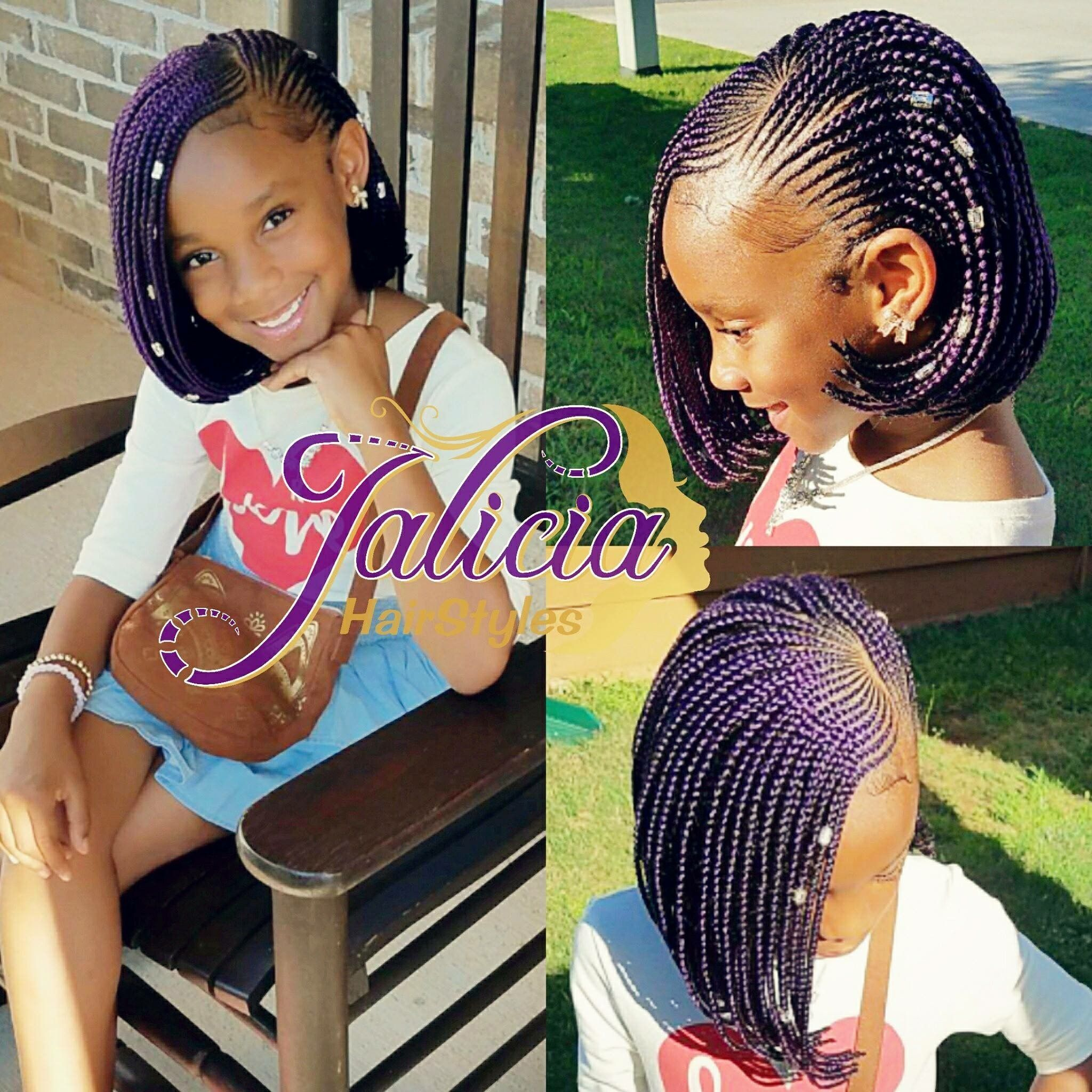 African American Girls Hairstyles In 2019 Kids Braided