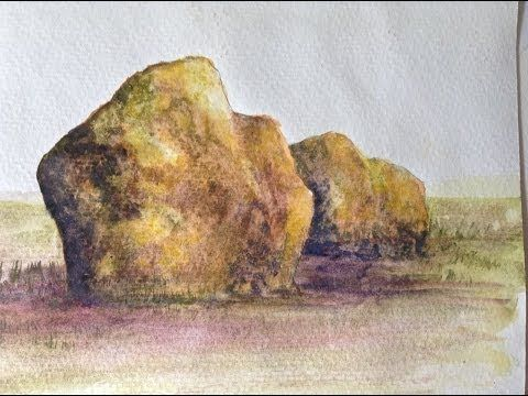 Tutorial How To Paint Realistic Rocks In Watercolors