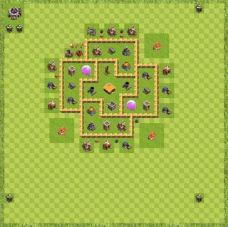 War Base Town Hall Level 6 By Arsalan786 Aaa Layout Clash Of