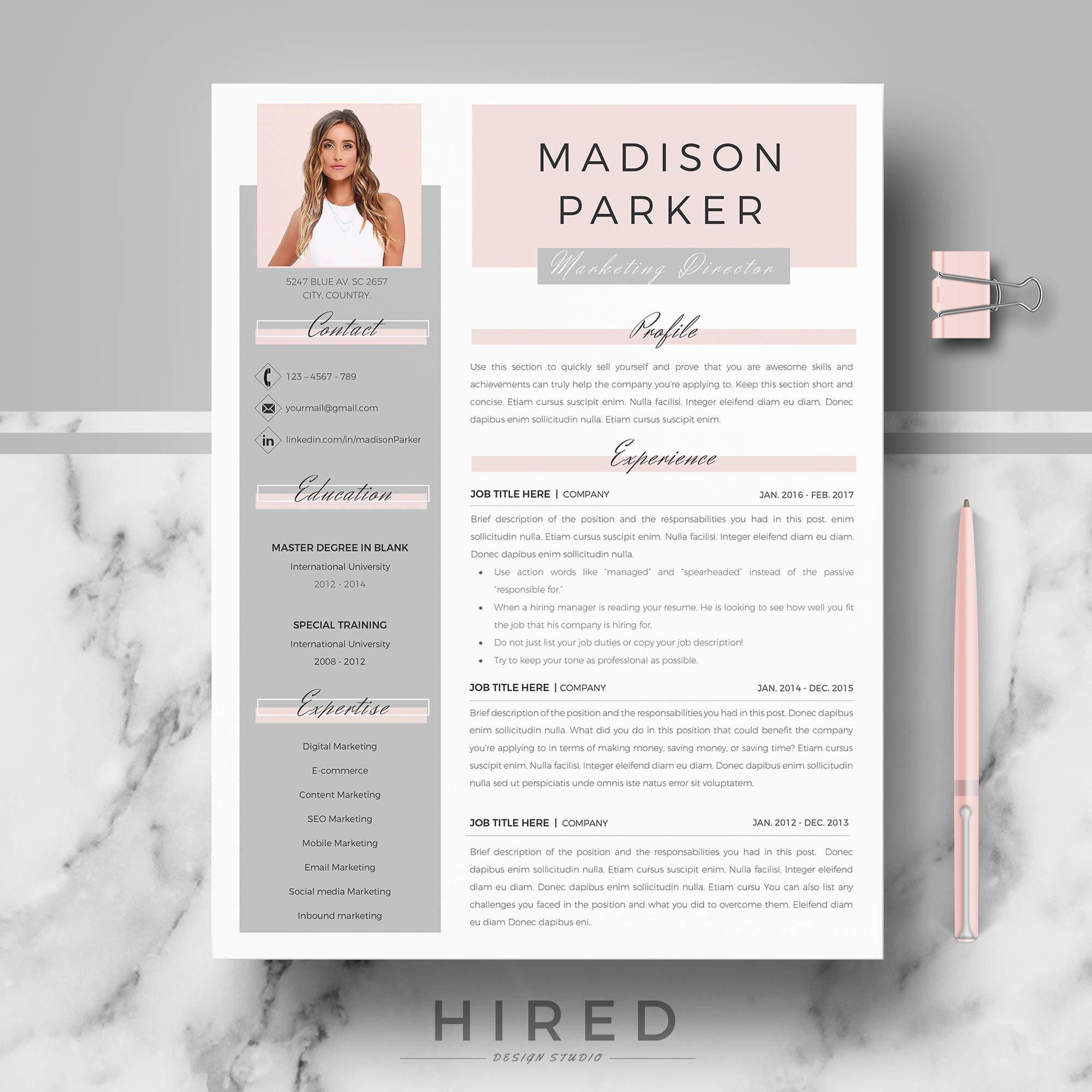 Creative Modern Resume Cv Template For Word And Pages Etsy Resume Design Creative Resume Design Professional Resume Design Template