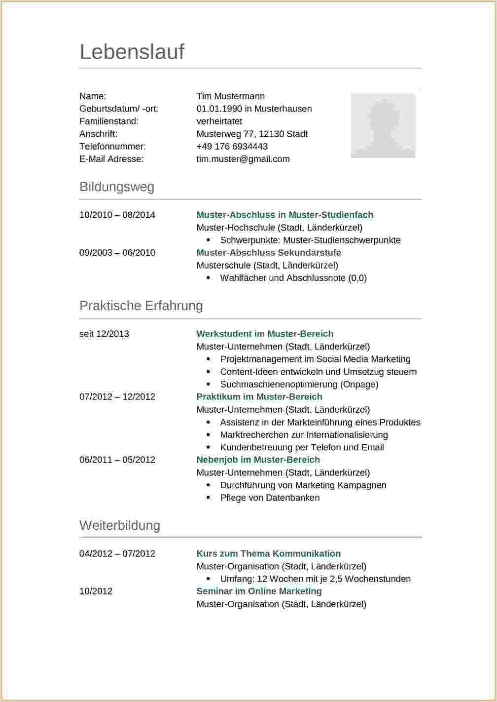 Lebenslauf Muster Umsonst In 2020 Resume Template Free Resume Template Medical Office Design