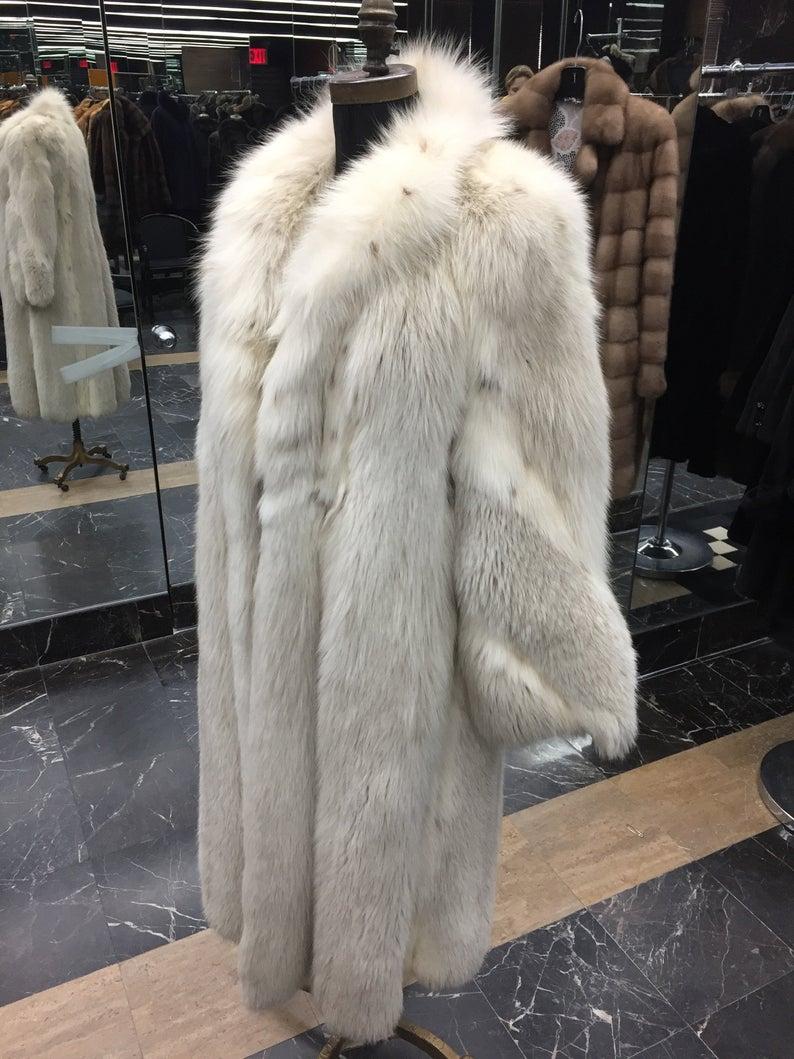 Gerson Pelze International Shadowfox Maxi Fur Coat Etsy In 2021 Fur Coat Faux Fur Coats Outfit Fur Coat Fashion