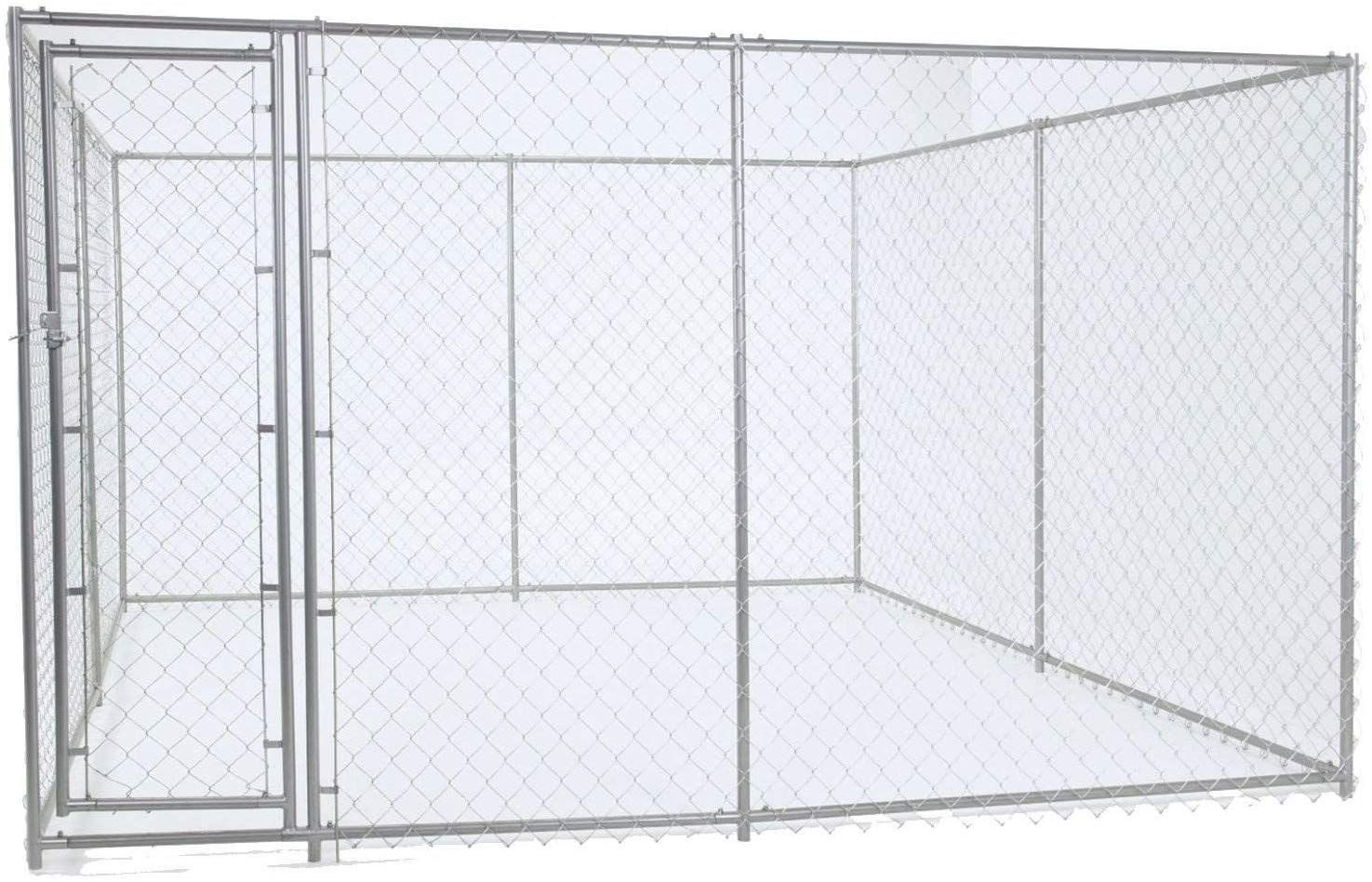 Lucky Dog Chain Link Boxed Kennel More Info Could Be Found At The Image Url This Is An Affiliate Link Dog Kennel Chain Link Dog Kennel Dog Kennel Outdoor