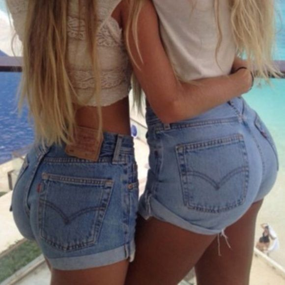 Levi's cut off high waisted shorts size 6 | Urban outfitters ...