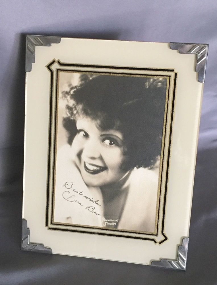 Vintage Art Deco 3 Color Reverse Painted Glass Movie Star Picture