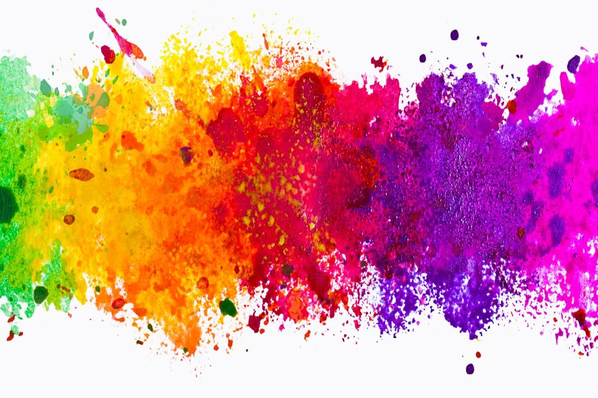 Abstract Artistic Watercolor Splash Background In 2019