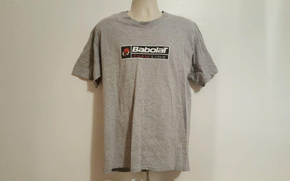 Babolat Team Line Adult Large Gray T-Shirt #Babolat