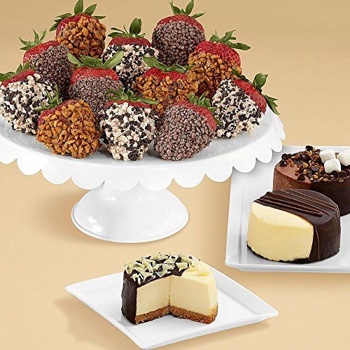 Shari's Berries - Mother's Day - Dipped Cheesecake Trio & 12 Premium Strawberries