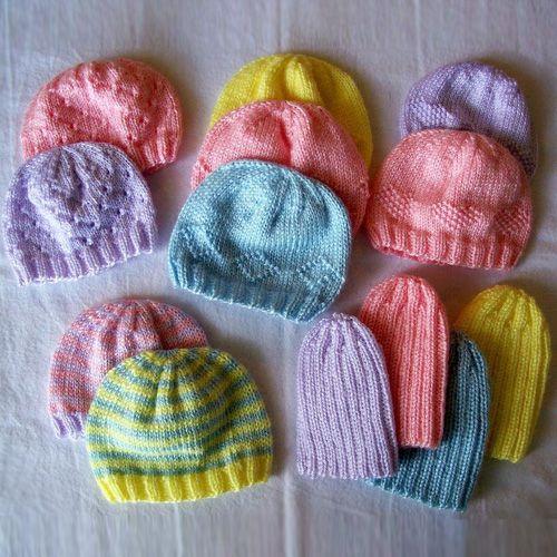 Sombreros para bebés prematuros Caridad - Patrones gratis | gorros ...