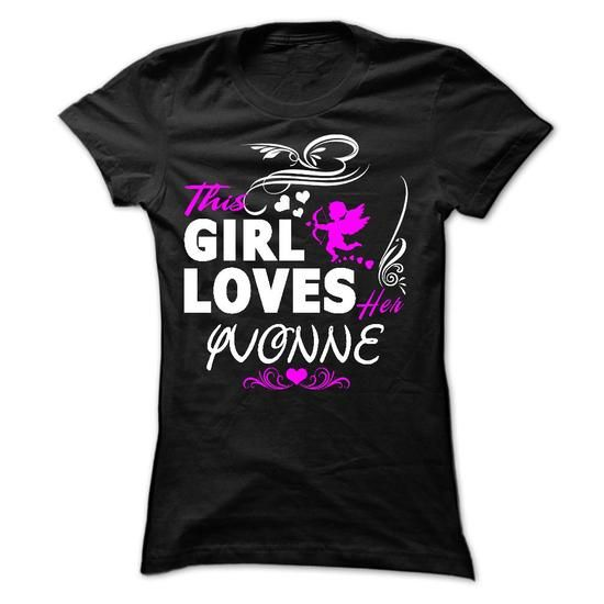 This girl loves her YVONNE - #hoodie quotes #hoodie schnittmuster. OBTAIN LOWEST PRICE => https://www.sunfrog.com/Names/This-girl-loves-her-YVONNE-39205032-Ladies.html?68278