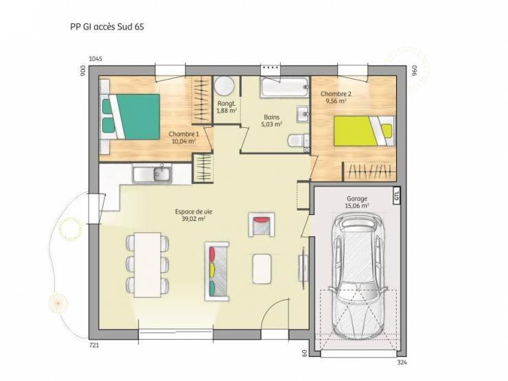 plan de maison nord
