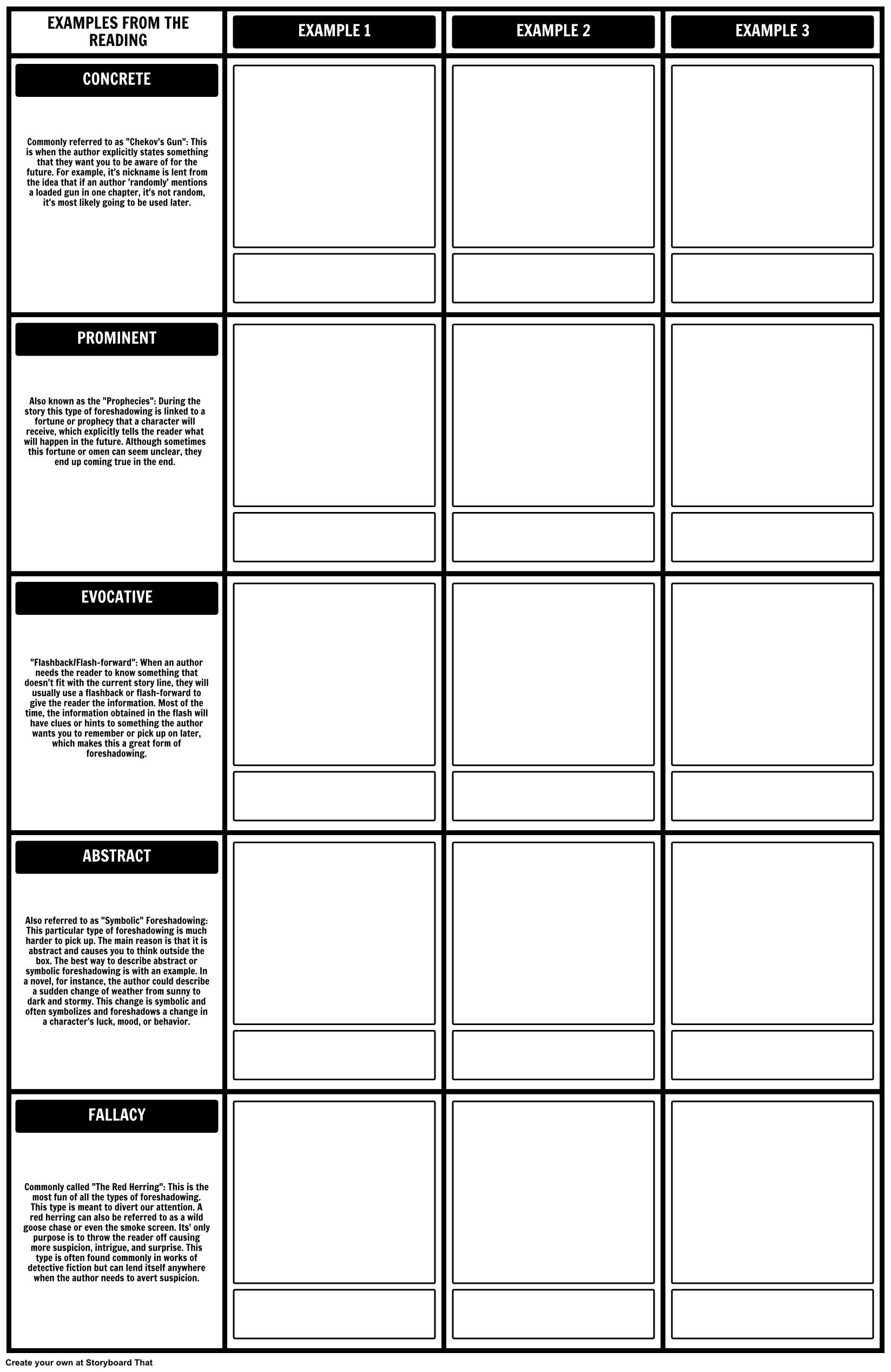 Worksheets Foreshadowing Worksheets our foreshadowing template worksheet was made with grid layout layout