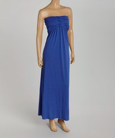 Another great find on #zulily! Sapphire Twisted Strapless Maxi Dress #zulilyfinds