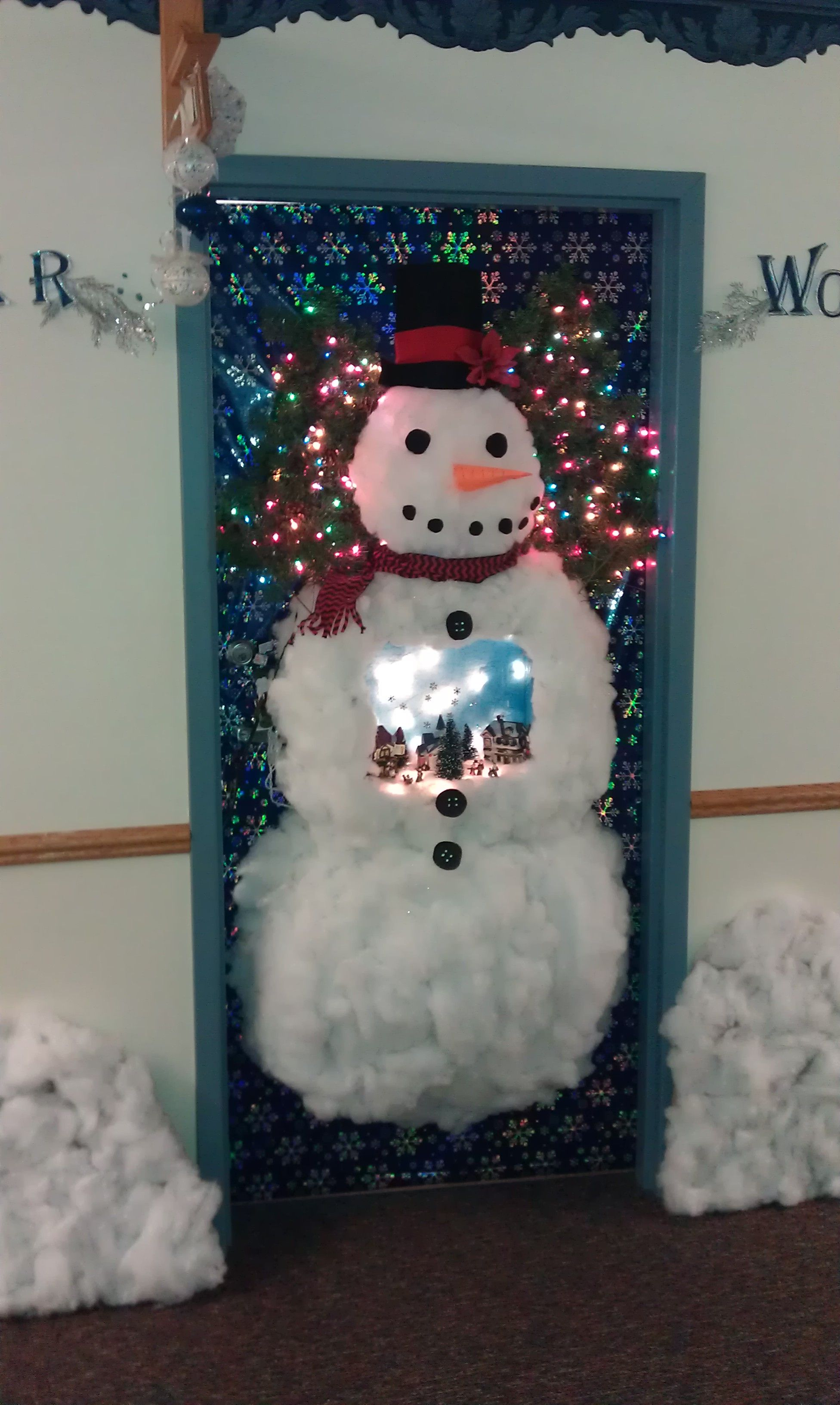 Work Door Decorating Christmas