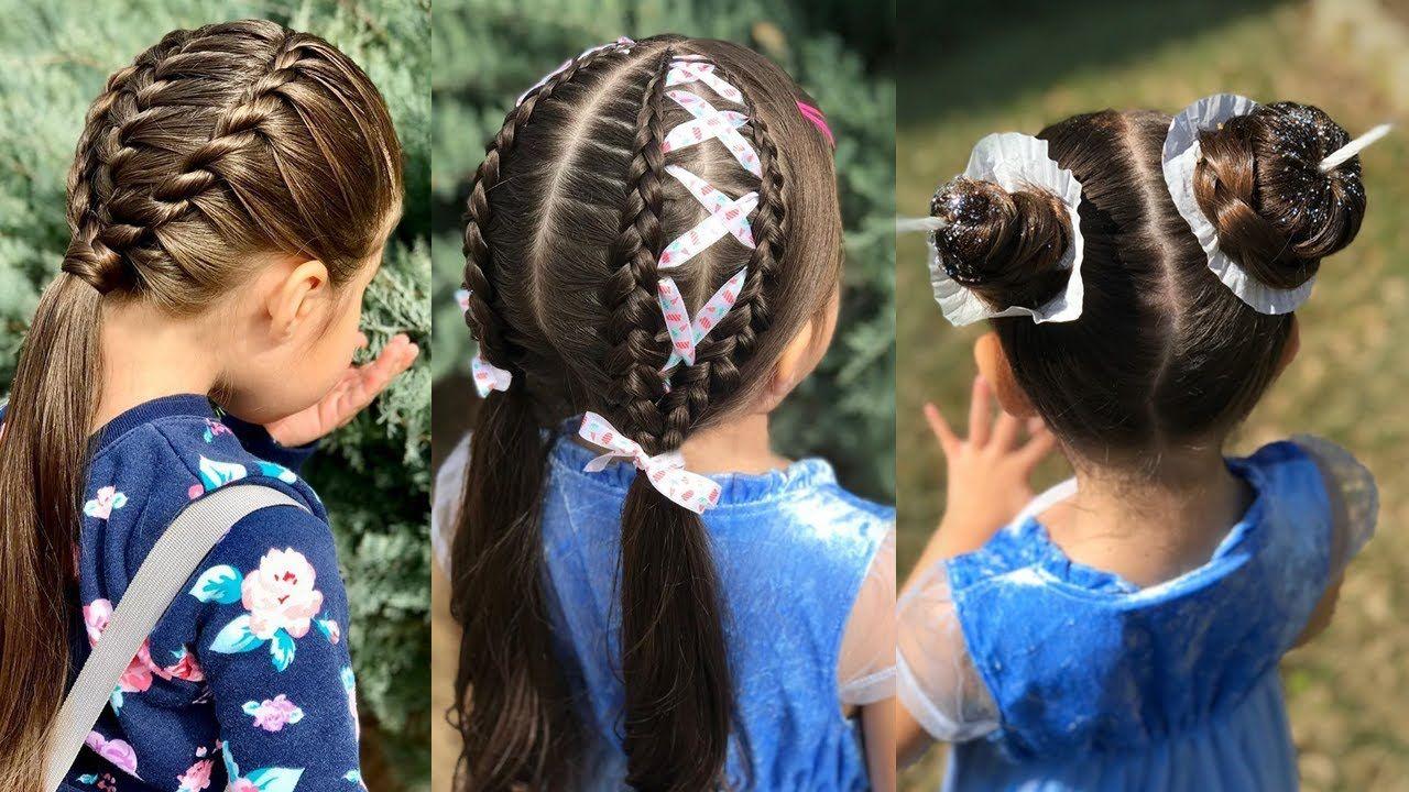 تسريحات شعر بنات صغار سهلة جدا ورائعة Hair Wrap Hair Hair Styles