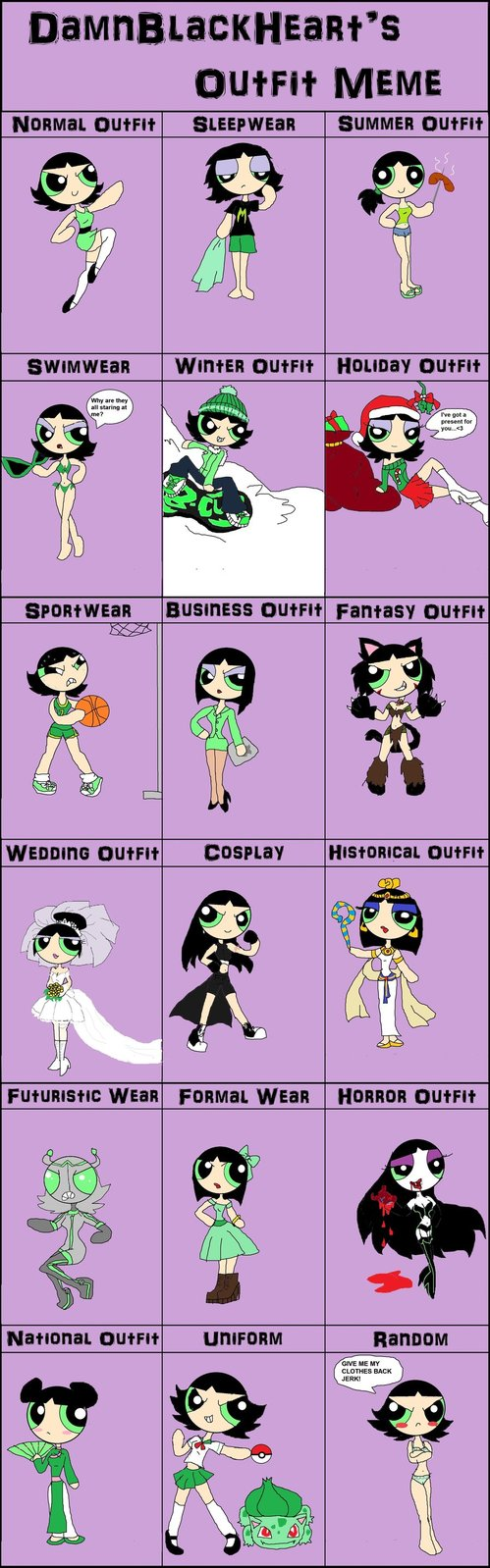 Outfit Style Meme: Buttercup by PurfectPrincessGirl