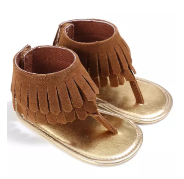7a763a353be fringe sandals baby toddler brown black turquoise western fashion ...