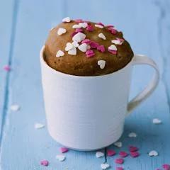 Schokoladen Mug Cake mit Herzen #mugcake