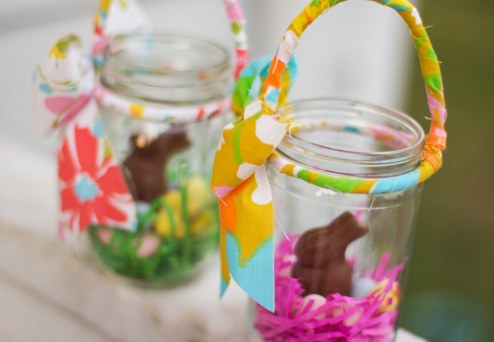 Mason jar easter basketswhat a neat classroom or sunday school mason jar easter basketswhat a neat classroom or sunday school idea for negle Images