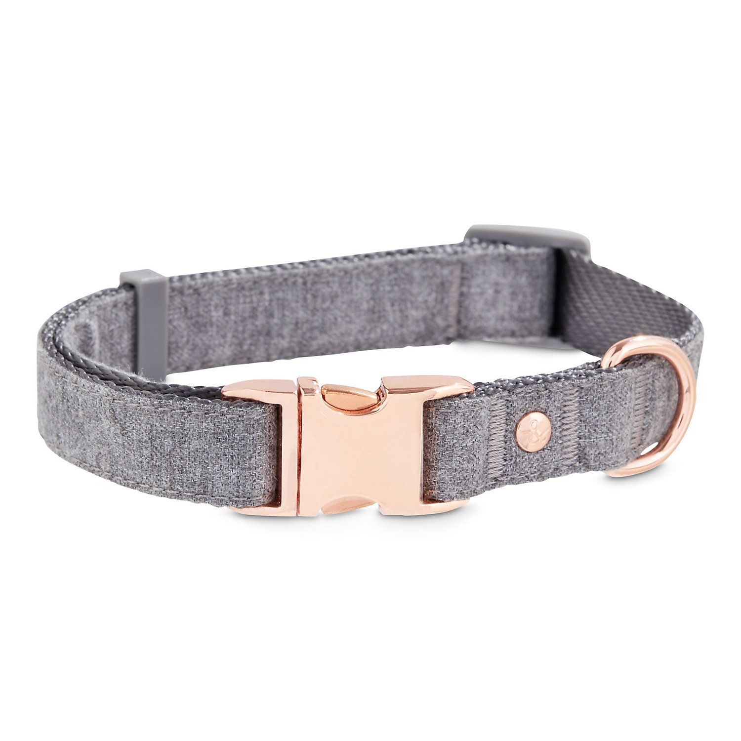 Bond Co Regal Rose Gold And Grey Dog Collar Medium Cute Dog