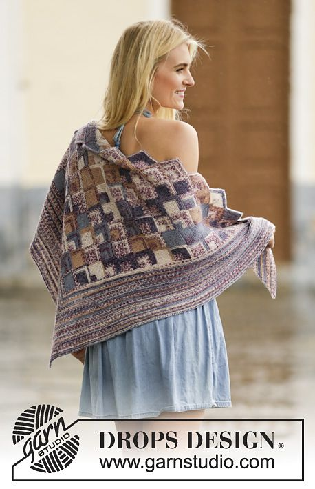 Piece By Piece Shawl By Drops Design Free Knitted Pattern