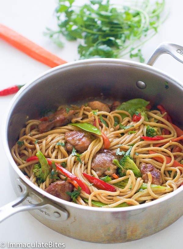 Chow Mein Caribbean Style Recipe Chow Mein Food Recipes Food