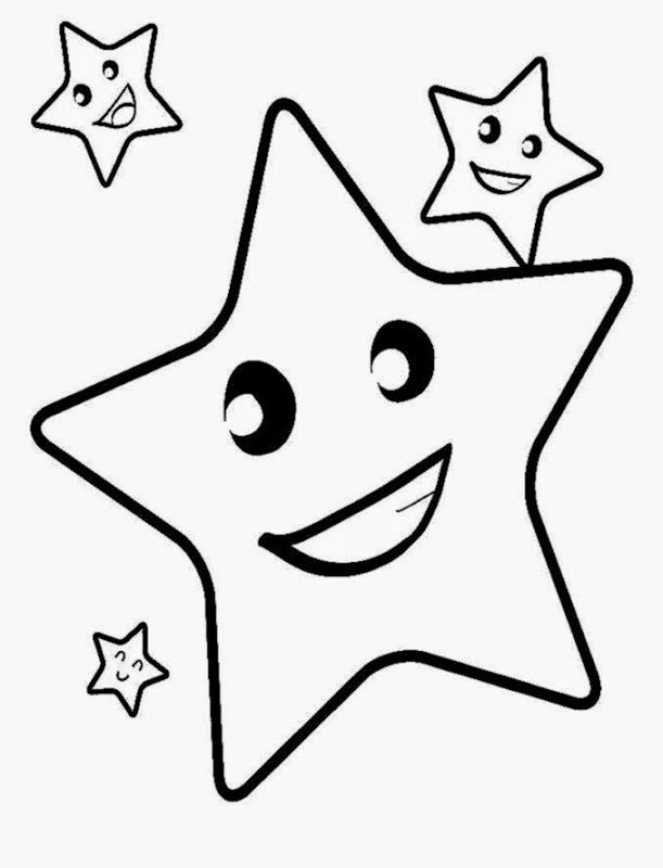- Toddler Coloring Printable Pictures Star Coloring Pages, Coloring  Pictures For Kids, Easy Coloring Pages