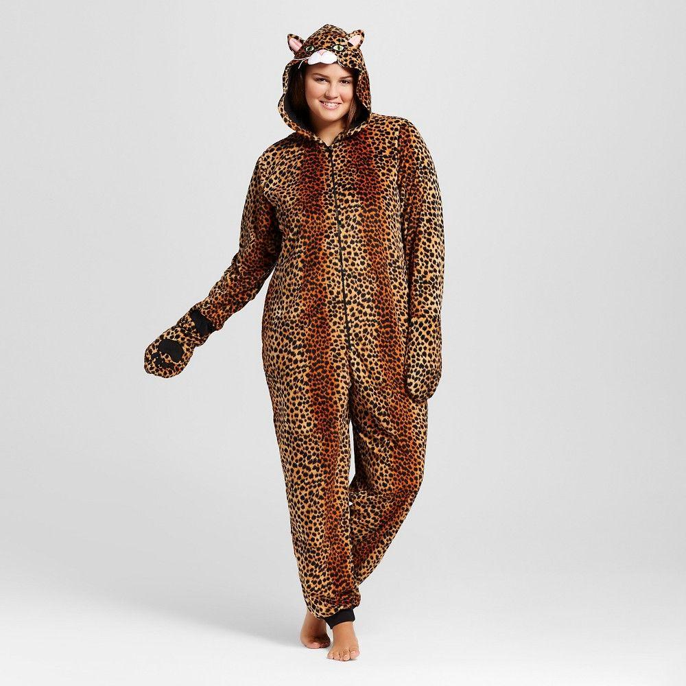 abe3d57b5bec Women's Plus Size Leopard Union Suit Pajamas | Products | Union suit ...