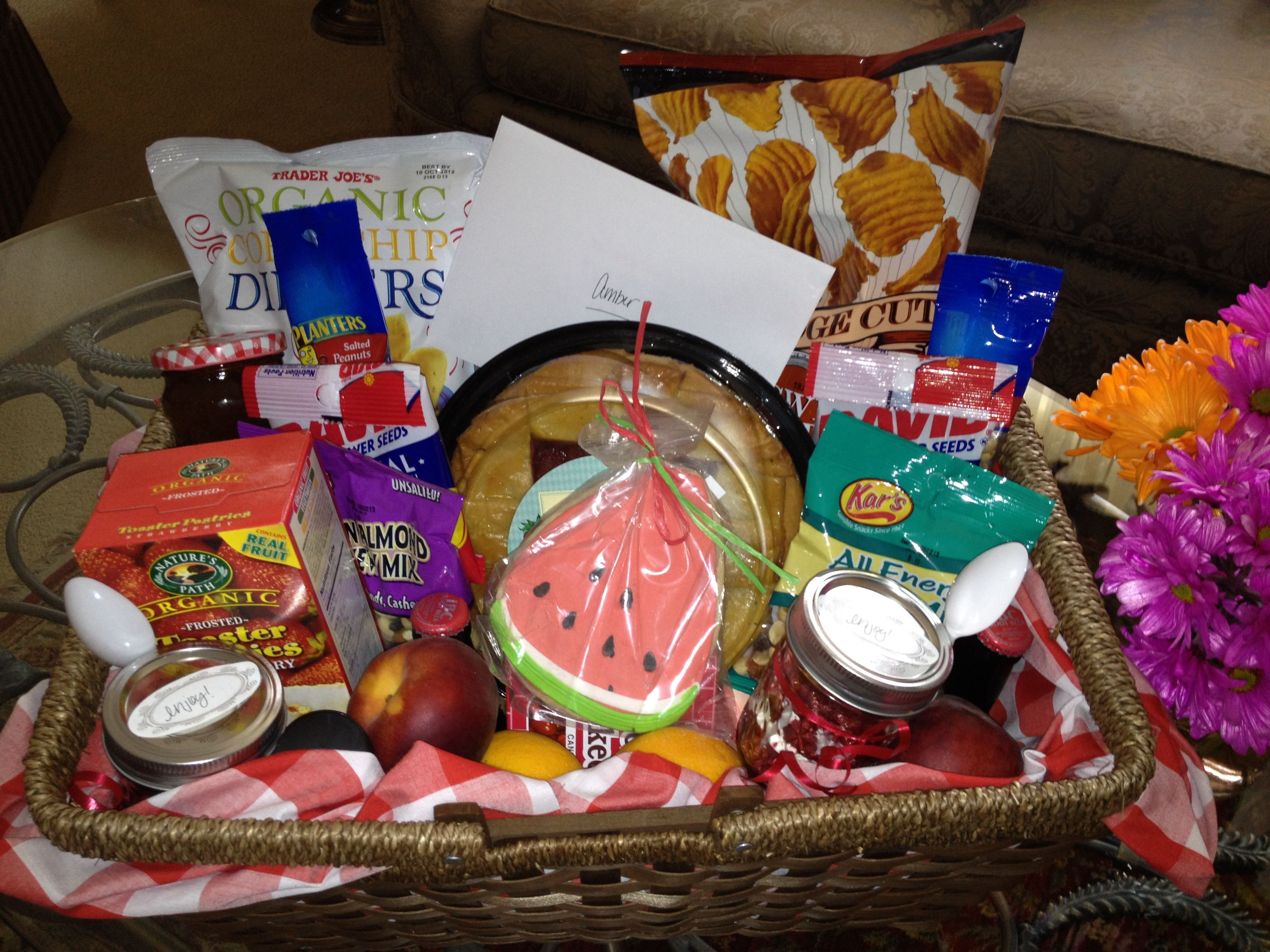 Creative Picnic Basket Ideas : Summer picnic themed gift basket my creations