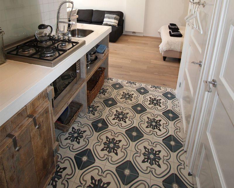 vloer - vloertegel - portugese tegels - wonen.nl | thuis | pinterest, Badkamer