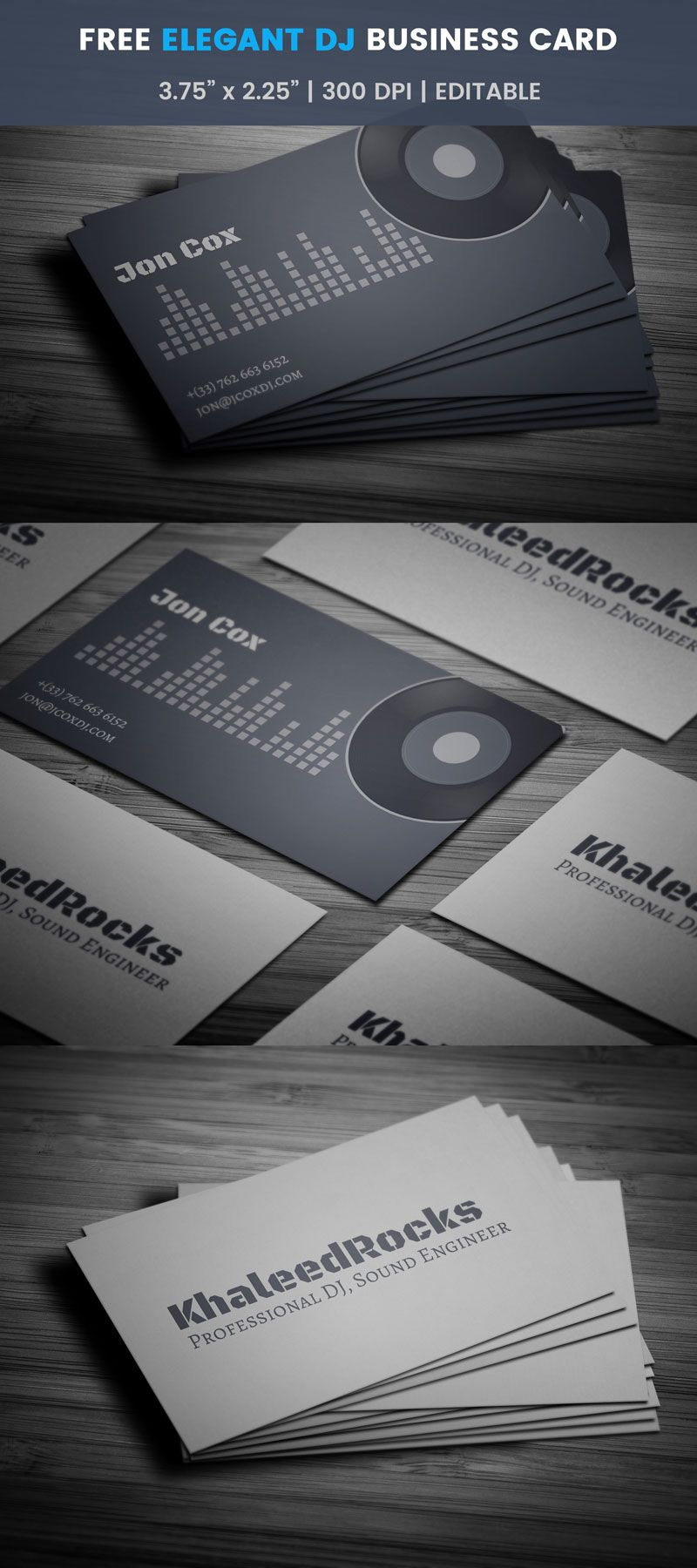 Free party dj business card pinterest business cards card edit this elegant dj card template online with your branding images and reheart Choice Image
