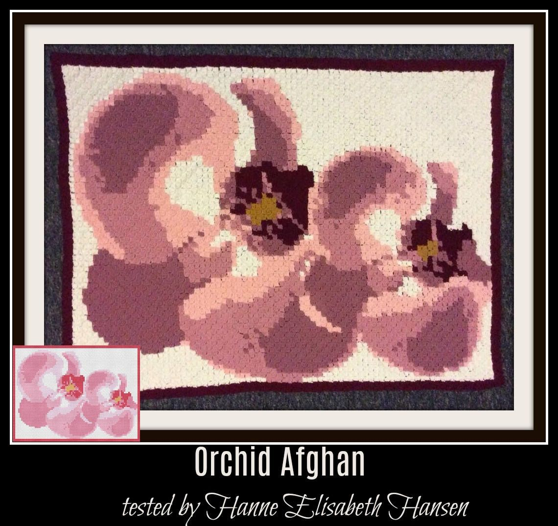 Orchid Afghan, C2C Graph, Written Word Chart, Orchid C2C Graph ...