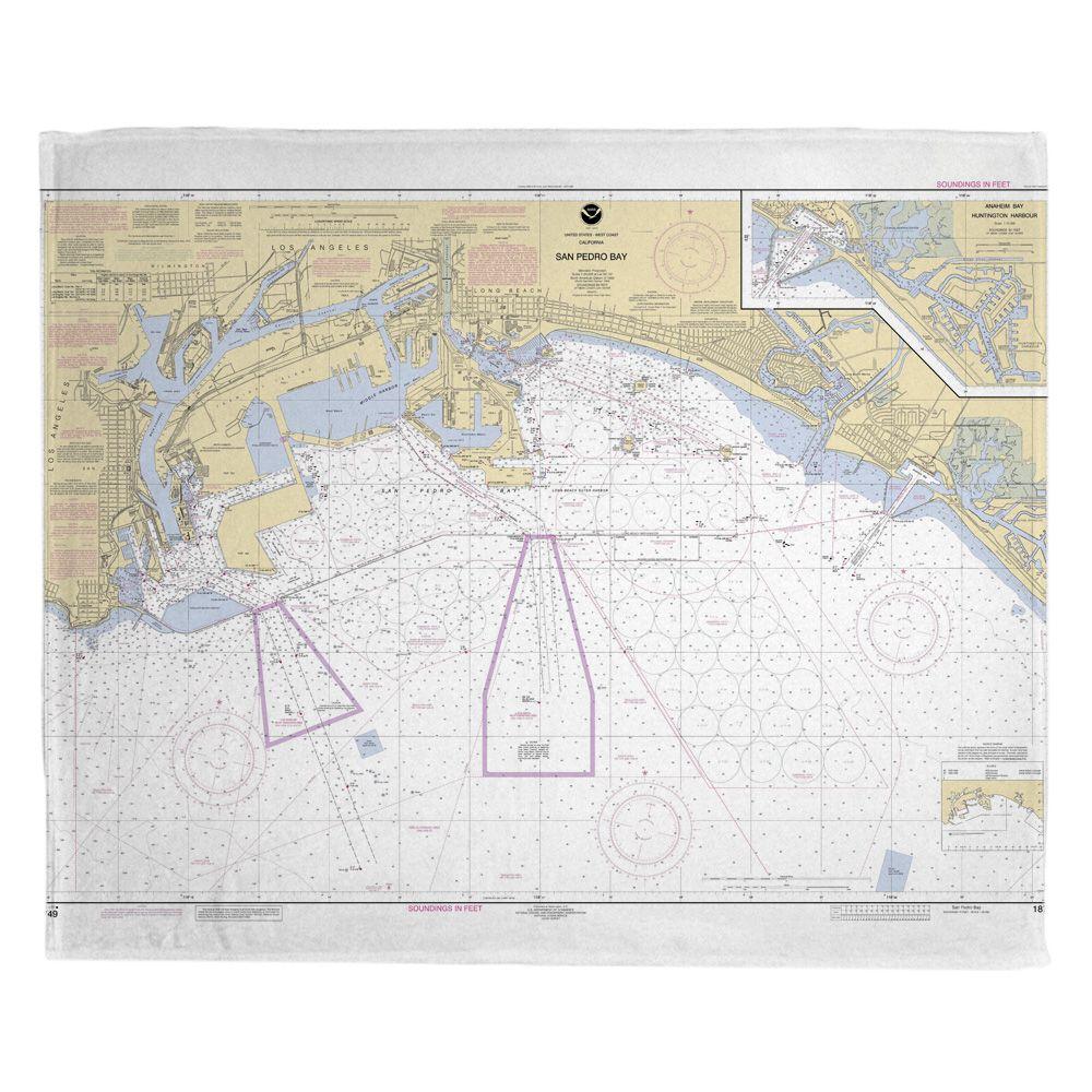 Ca San Pedro Bay Ca Nautical Chart Blanket Memory Foam Bath Mats Nautical Chart Memory Foam Bath Rugs