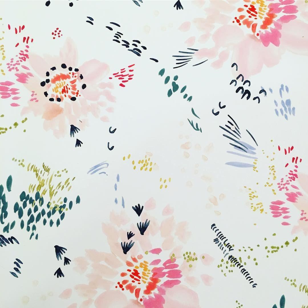 Playful Floral Pattern Floral Prints Pattern Watercolor Pattern Floral