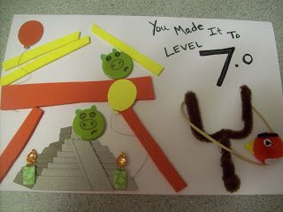 Homemade Angry Birds Birthday Card For 7 Year Old